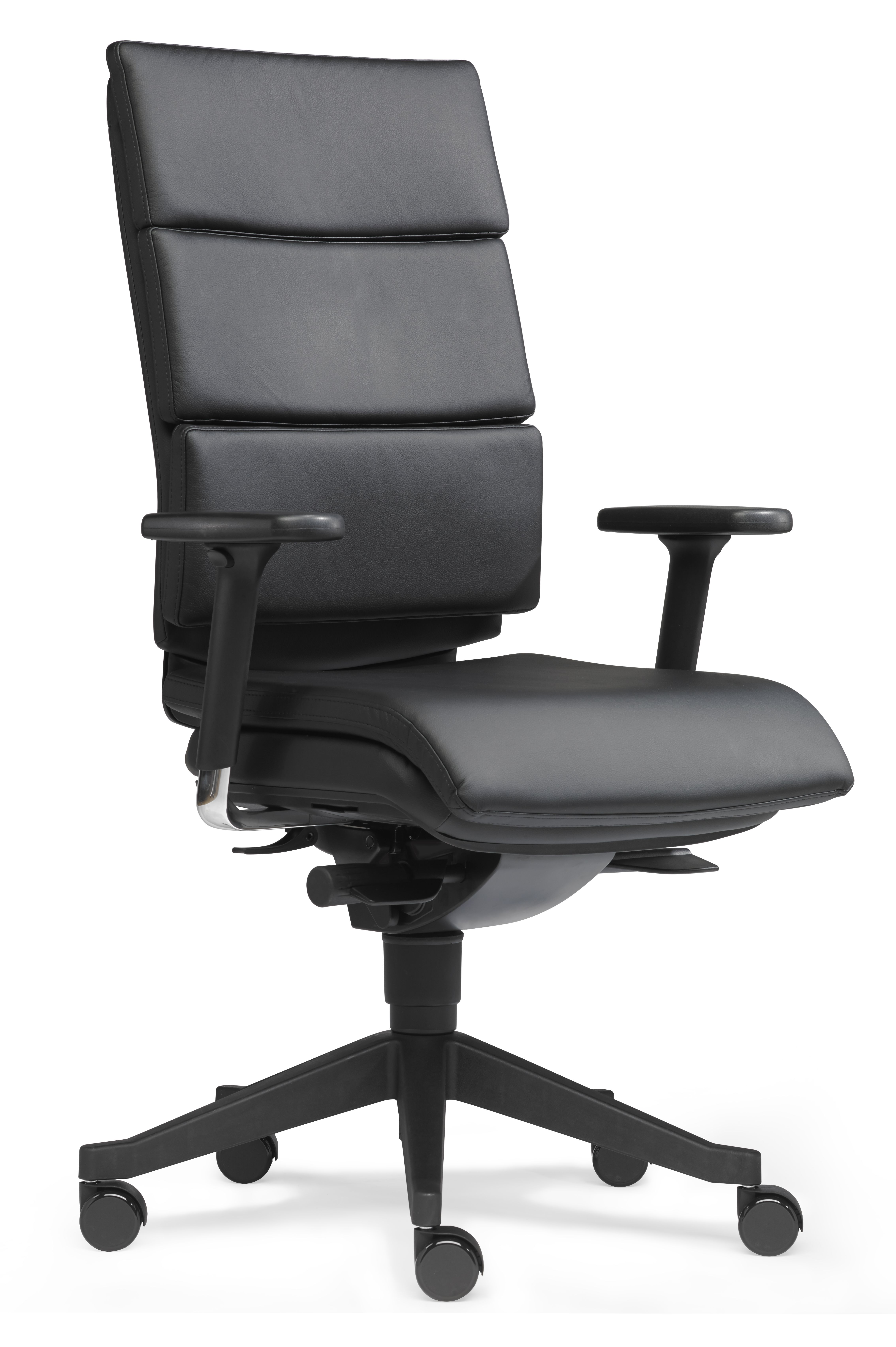 DREAM-OFFICE Drehstuhl Leder schwarz