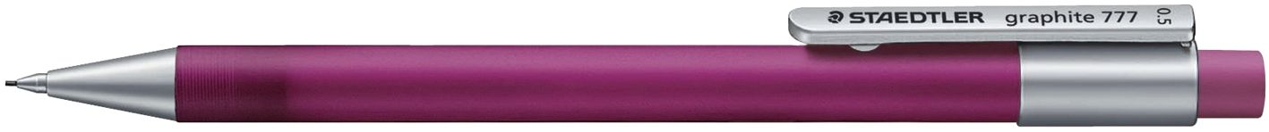 Druckbleistift graphite 777, 0,5 mm, B, frosted magenta transparent