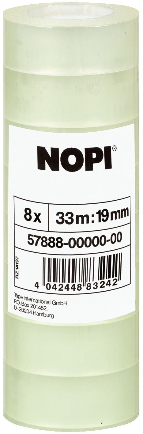 Klebefilm transparent  NOPI® -  19 mm x 33 m (8)