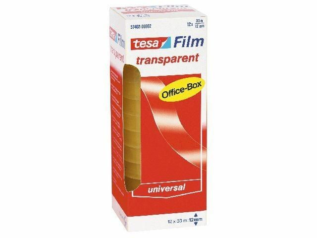 Klebefilm transparent - Tesa Office Box - 12mm x 33 m (12)