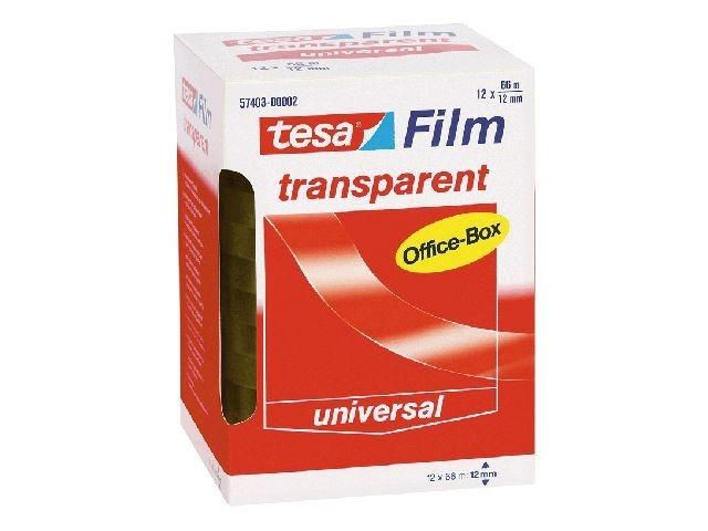Klebefilm transparent - Tesa Office Box - 12 mm x 66 m