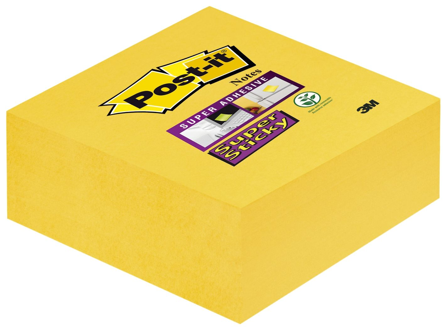 Haftnotizen Post-it Notes Super Sticky - 76 x 76 mm gelb 12 Blöcke +12 Gratis