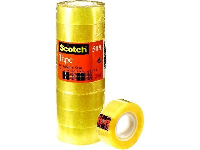 Klebefilm transparent - Scotch 508 - 15 mm x 33 m (10)