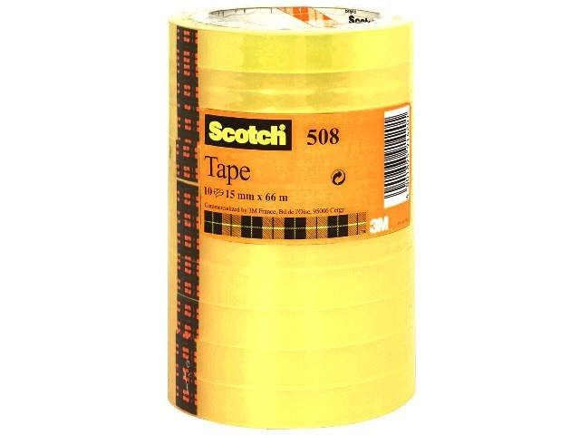 Klebefilm transparent - Scotch 508 - 15 mm x 66 m (10)