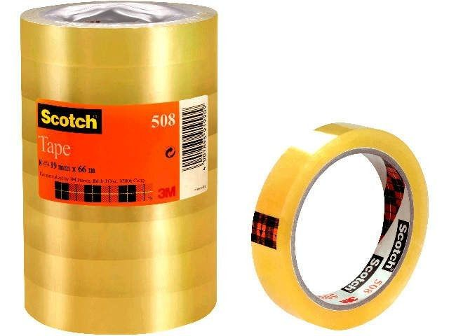 Klebefilm transparent - Scotch 508 - 19 mm x 66 m (8)