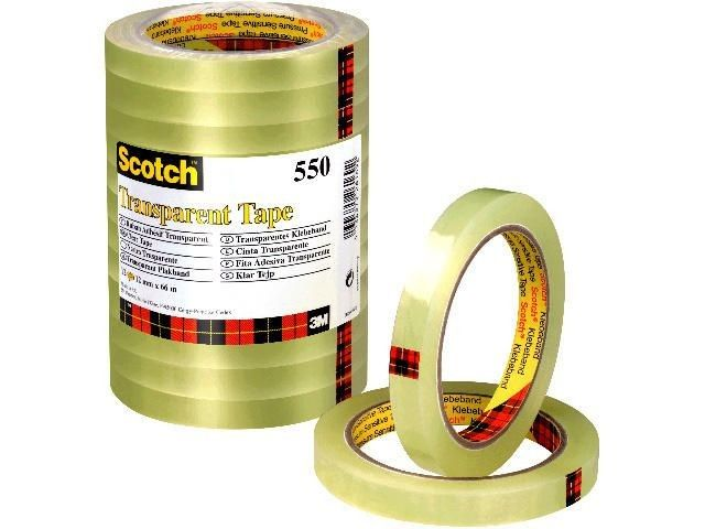 Klebefilm transparent - Scotch 550 - klar - 12 mm x 66 m (12)