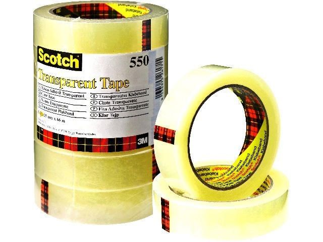 Klebefilm transparent - Scotch 550 - klar - 19 mm x 66 m (8)
