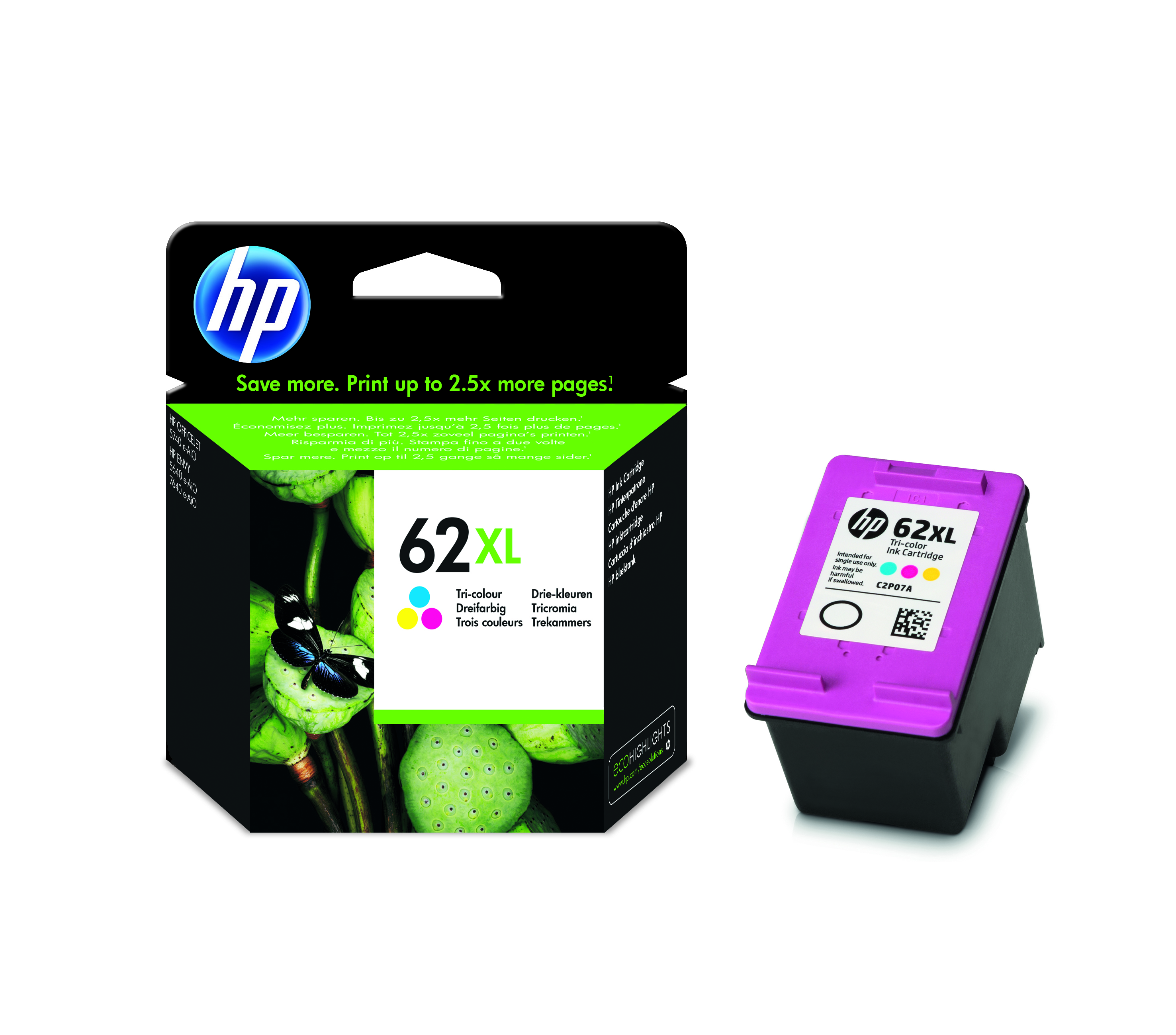 HP  Inkjet Patrone Nr. 62 XL color - C2P07AE