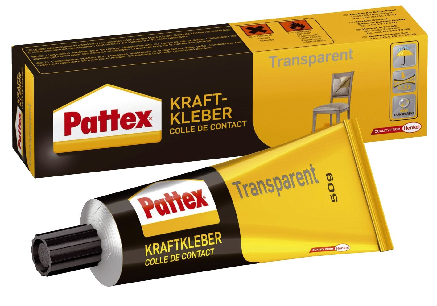Kraftkleber transparent 50g