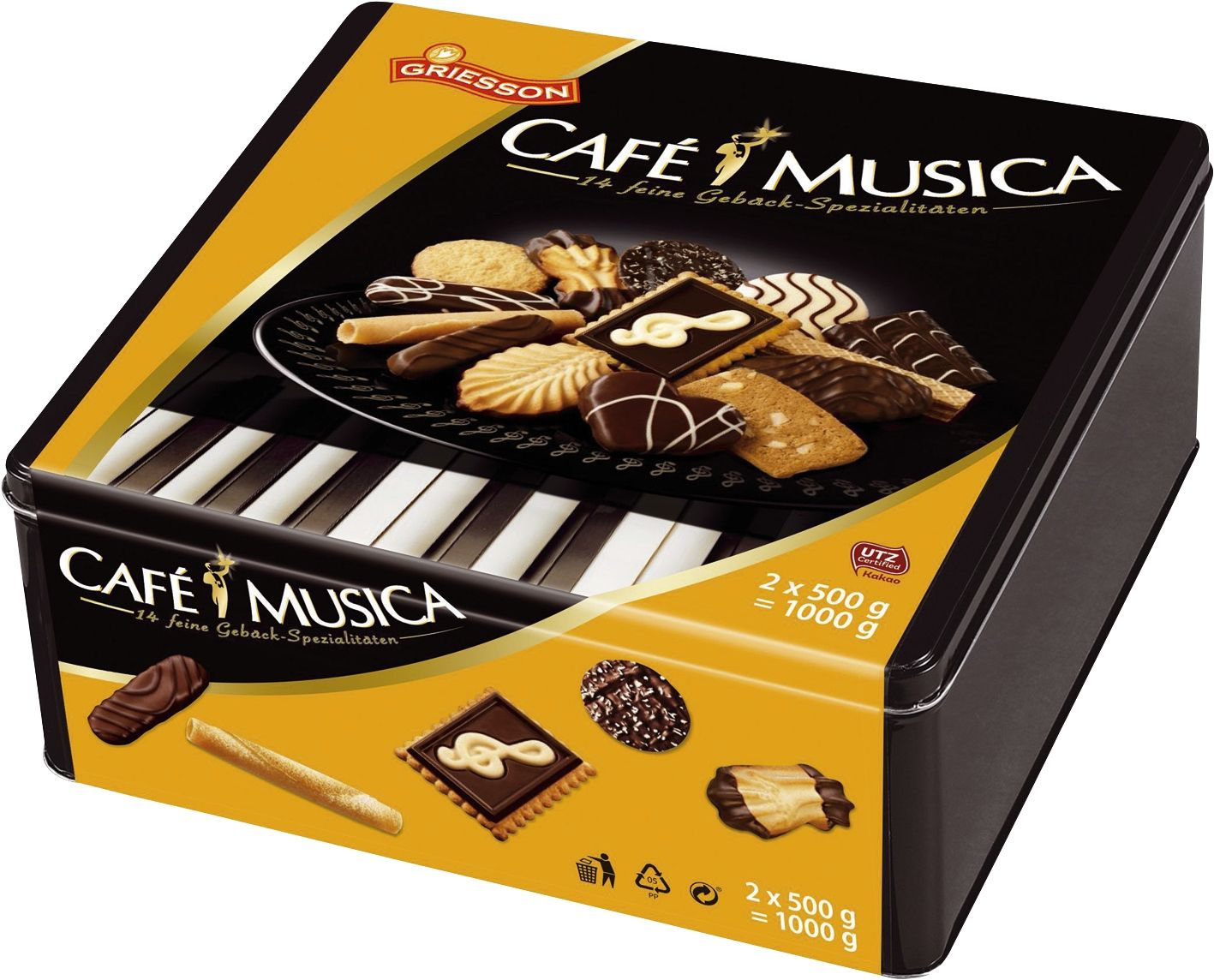 Cafe Musica - Metalldose, 2 x 500 g