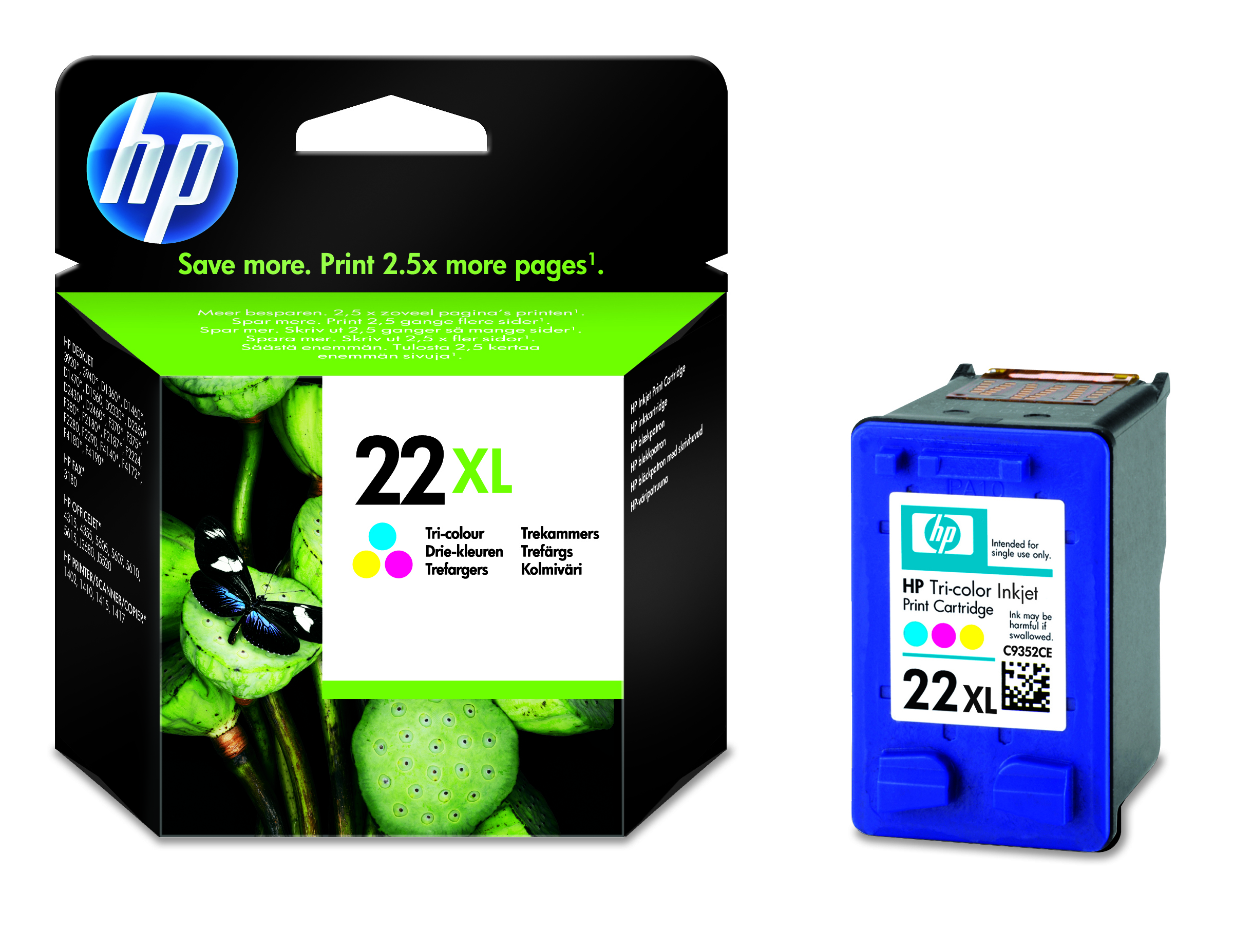 HP Inkjet Patrone Nr. 22 XL color - C9352CE